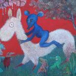 Peter Oosterhout - Blaue Reiter, acryl 46x38