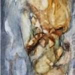 Yvonne Kieft - Sporen II, olieverf op doek, 0.40 x 1.00 m, 2015