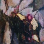 Yvonne Kieft - Florale XII-2, olieverf op doek, 20x20 cm, 2012