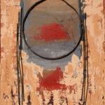 Sunny Neeter - Sun Set, mixed media op paneel, 100 x 120 cm