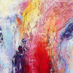 Sunny Neeter - Girl Power, mixed media op papier (ingelijst), 70 x 90 cm