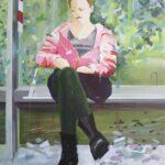 Tjits van der Kooij - Klem. 2019. acryl op linnen. 100x 80 cm