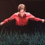 De dirigent, fotobewerking en olieverf op doek, 90 x 60 cm