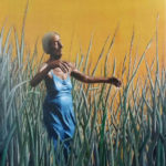 Open air dance, fotobewerking en olieverf op doek, 60x80 cm